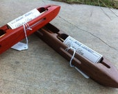"14"" Double Bobbin Closed Bottom Boat Shuttle - Choice of Exotic Wood - Bluster Bay Handweaving Tool"