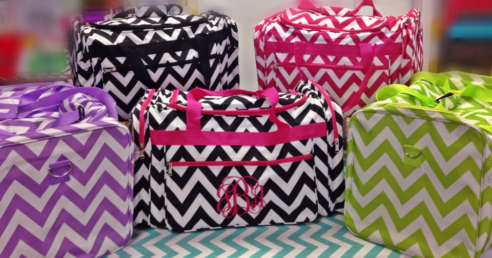 large chevron duffle bag great for teens by bluesuedestitches
