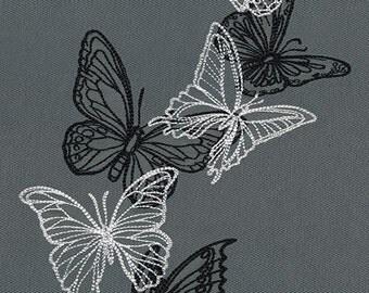 Flight & Dark Butterflies - Cascade fleece blanket