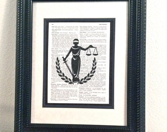 Elegant Lady Justice Print - Gift for Lawyer or others in the Legal Profession