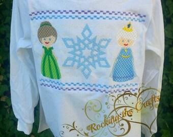 Frozen smocked shirt