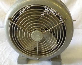 Vintage Fan Electric Metal Fan Heater Kenmore Model No. 1247204  Color Gray No. 1