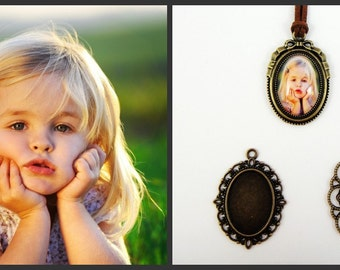 18x25mm Oval Custom Made Photo Pendant Jewellery personalized photo cabochon using your own photograph, perfect gift for anniversary