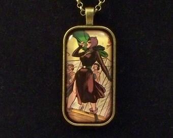 Vintage Catwoman Comic Glass Pendant Necklace