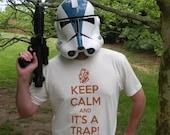 Keep Calm and It's a Trap! Star Wars Admiral Ackbar inspired t-shirt