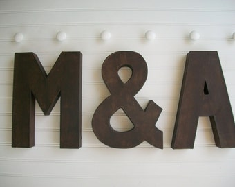 Painted Letter . Wall Letter . Wedding Decor . Rustic Letters . Initial. Wedding Letters . Ampersand . Custom Painted Letter
