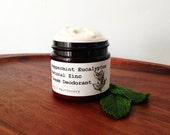 Organic Peppermint Eucalyptus Zinc Cream Deodorant/ 100% Natural/ Really does work
