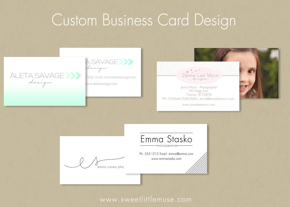 Business card design custom business card by sweetlittlemuse for Order custom business cards
