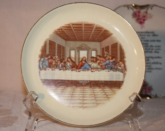 7 inch Last Supper plate with 22 Kt gold rim