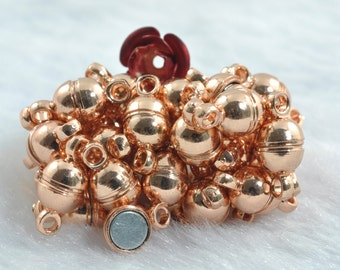 20 Sets of Rose Gold plated Magnetic Clasp in 5mm