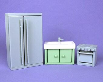 Wooden Dollhouse Furniture: Kitchen Appliance Set