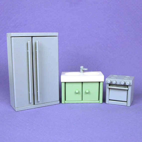 Wooden Dollhouse Furniture Kitchen Appliance Set