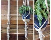 """48"""" Chunky Straight - Cotton Rope Plant Hanger"""