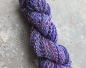 Handspun yarn--Purple Madness