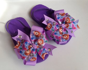 Disney's Sophia the First Purple Flip Flop Sandals