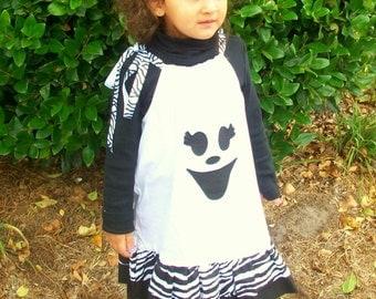 Girls Halloween Dress Halloween, Trick or Treat, Ghost Pillowcase Dress, A Prissy Stitch