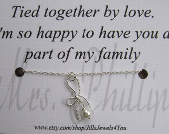 Wedding Gift Ideas For Stepson : ... Card- Step Daughter Gift - tied together by love - Personalized Gift