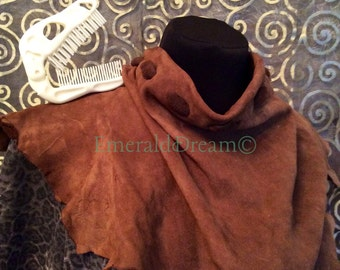 Raw Suede- leather suede scarf shawl leather belt decorative belt leather necklace