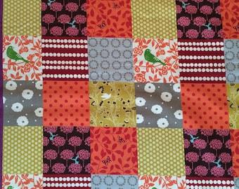 Echino Fabric Story Patchwork Orange by the Yard