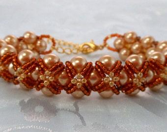 "Elegant ""Lauren"" Captured Pearl Bracelet (001-307)"