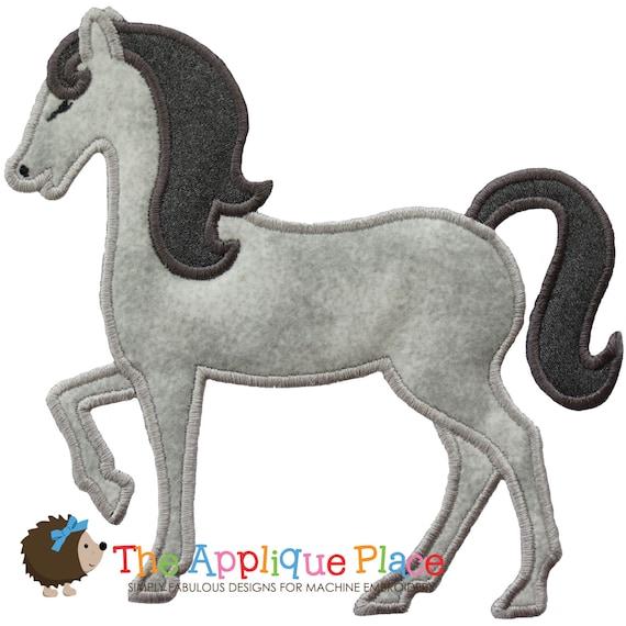 Horse applique design instant digital download file for