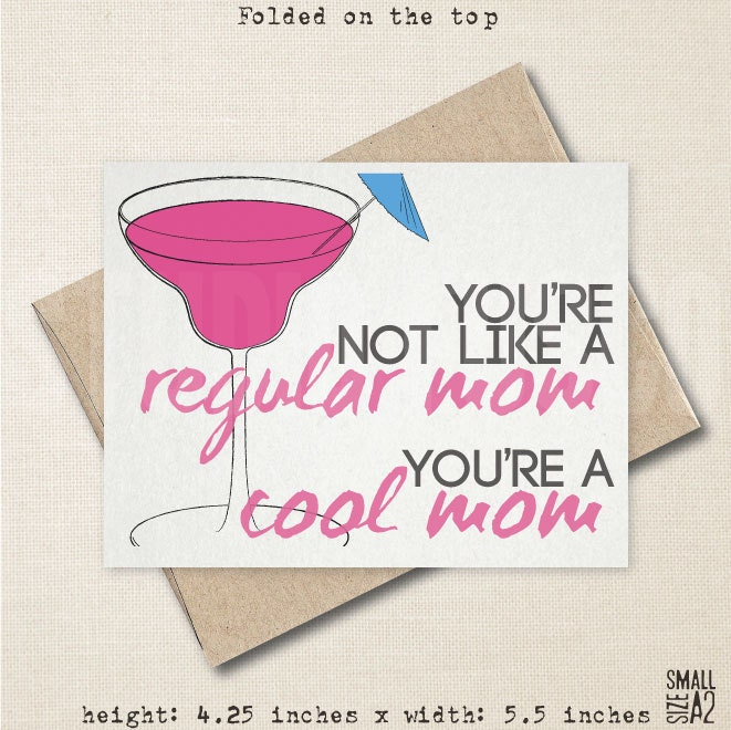 Cool Mom Card Mother's Day Card Mean Girls Inspired