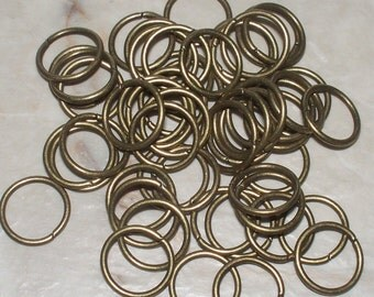 10MM Antiqued Bronze Open Jump Rings - 25