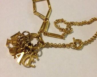 1990s Vintage Gianni Versace Letters Choker Necklace