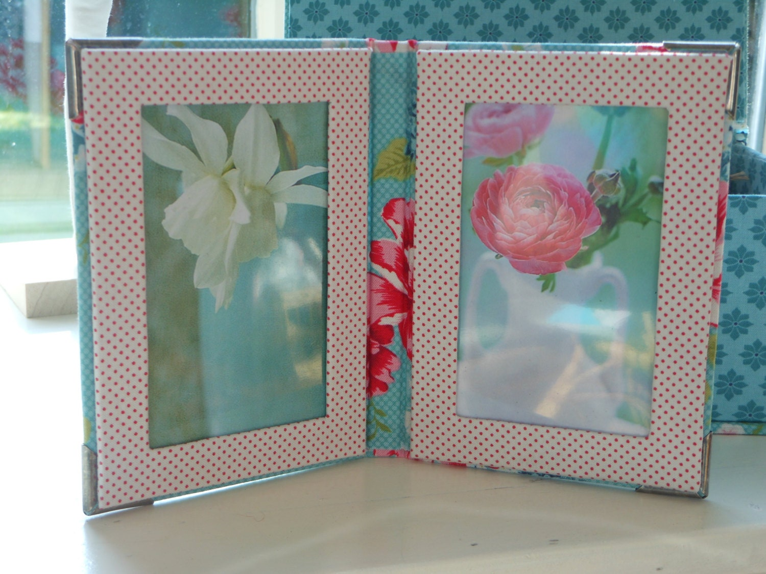 DIY kit picture frame fabric covered cartonnage
