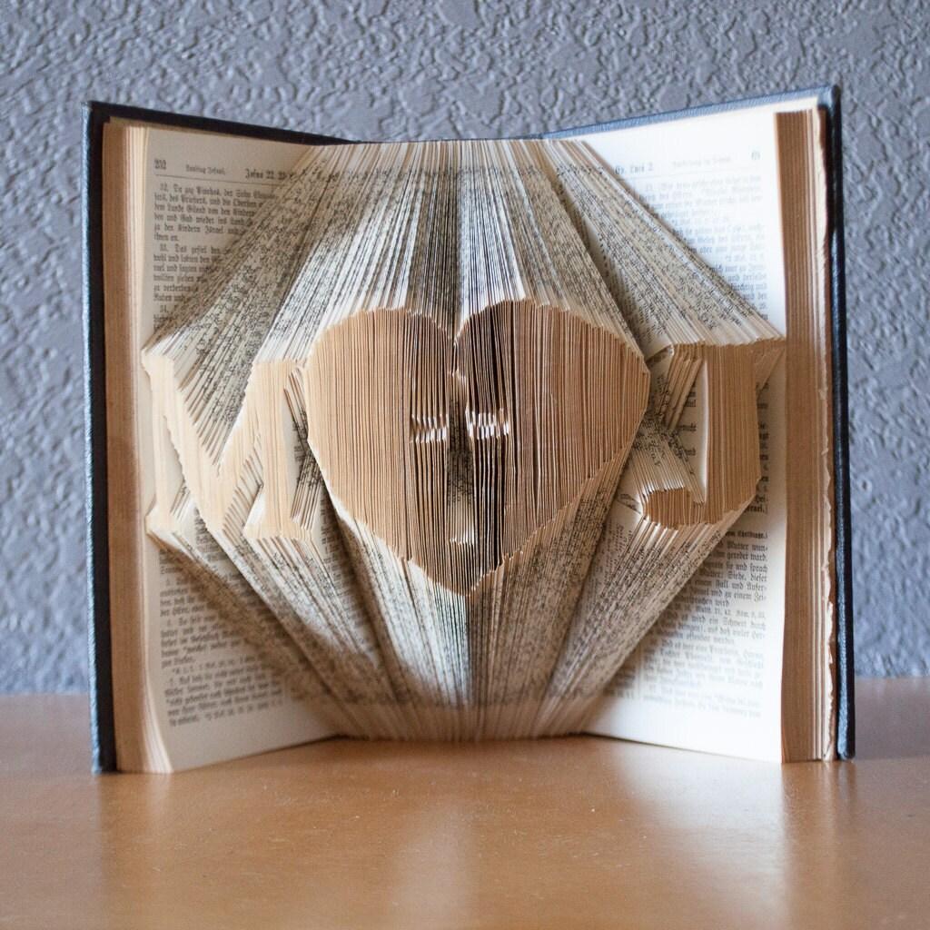 Book Art Wedding Gift : Religious Wedding Gift-Folded Book Art Book Lover-Home