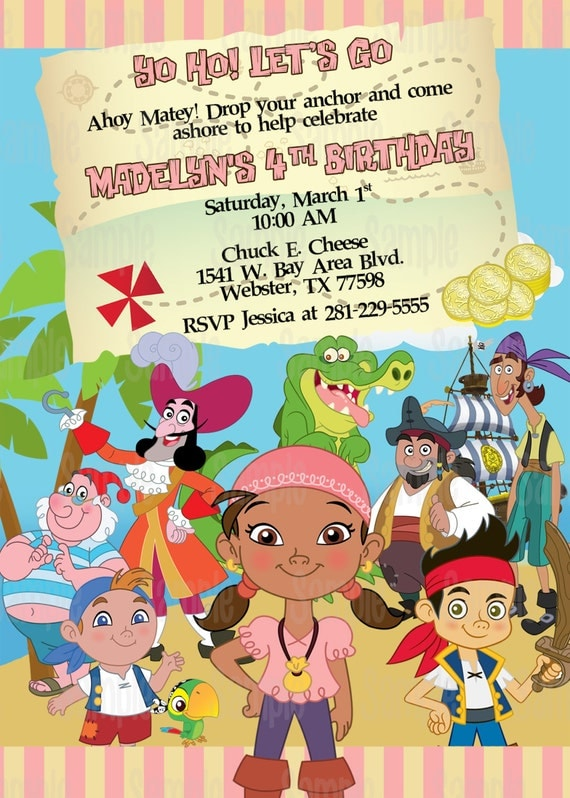 Printable izzy jake and the neverland pirates birthday party il570xn filmwisefo