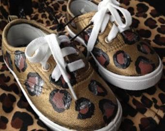 Custom Hand Painted Cheetah Shoes