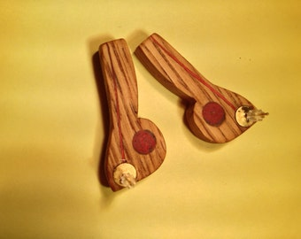 Red Oak Post Earrings