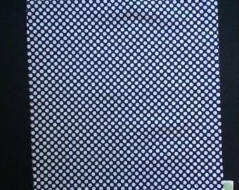 Navy Polka Dot Shoe Bag
