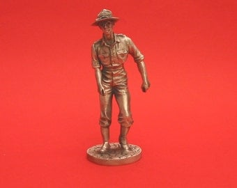 Brigadier General Joe Stillwell World War II  Pewter 75mm Figurine World War 2 Allied Leader Collectible Model