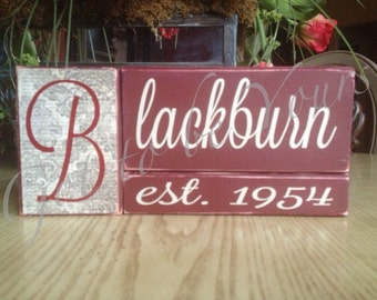 Wooden Personalized Name Block Set