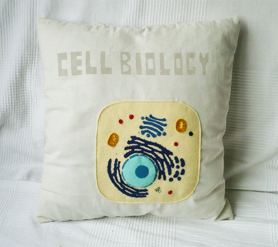 Cell Biology cotton pillow, science pillow