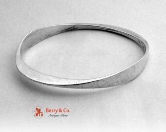 Ronald Pearson Sterling Silver Modernist Bangle Bracelet 1960