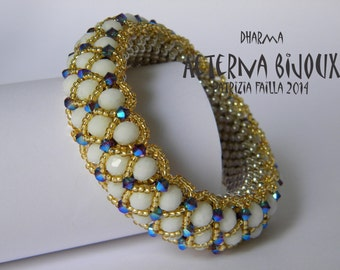 Beading tutorials and patterns Dharma bangle-  beadwork, bead pattern, bead tutorial, bead instruction, beading instruction, beading