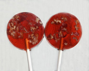 Bacon Wedding Favor  Lollipops -  Maple or Butterscotch Flavor - 30 Lollipop Pack - Fathers Day, Brown Wedding Favors, Party Favors, Bacon