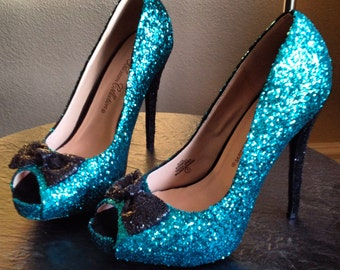 Glittered Heels with Bow