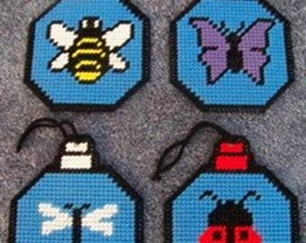 Bug Ornament Plastic Canvas Pattern Set