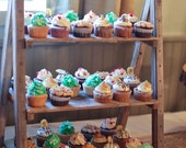 Cupcake Stand Rustic Wedding Reclaimed Wood Barn Tiered Ladder