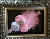items similar to pink feather embellished with satin items similar to pink feather embellished with satin