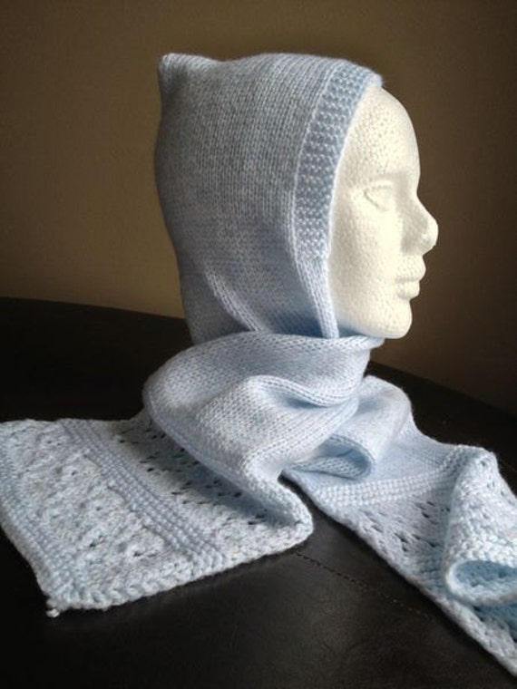 Custom Hand Knitted Hat and Scarf Combo