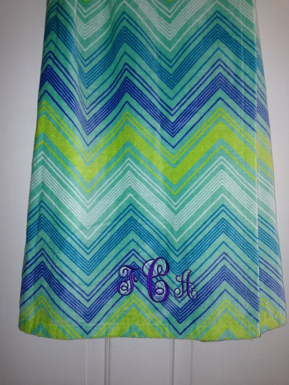 aqua turquoise purple and white chevron pattern by blackcatcollege