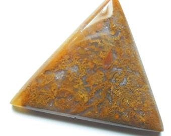Beautiful gold moss agate cab (E1172)