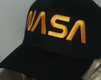 NASA Hat Worm Logo Cap  ASTRONAUT
