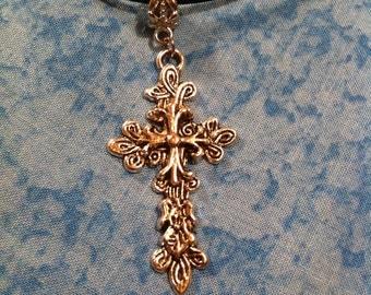 Knotted Cross Neckalce