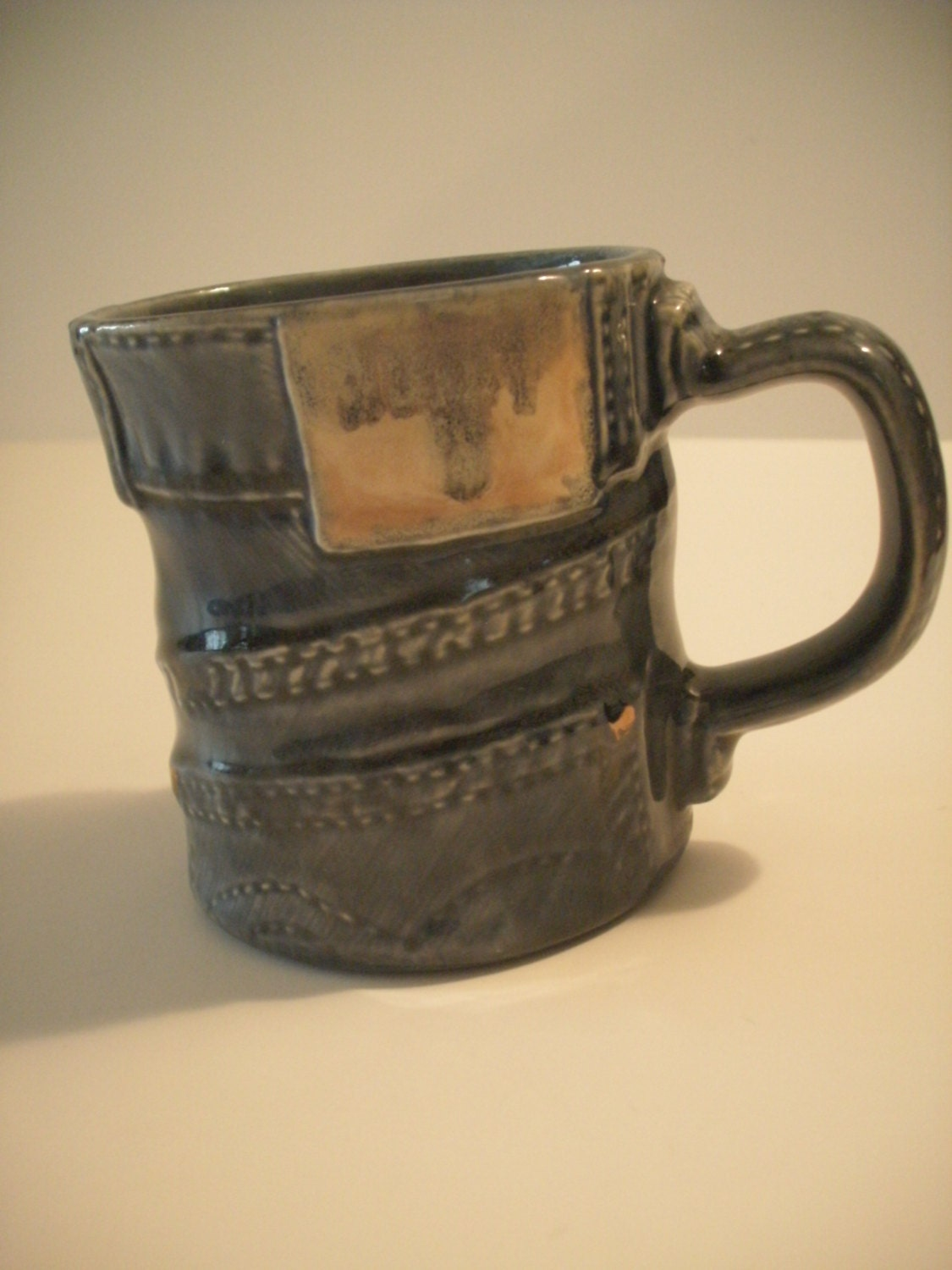 Coffee Mug 8 Oz Blue Jean Denim